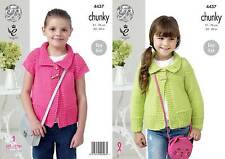 Kingcole 4437 childs chunky knitting pattern 24-30in - pas les vêtements finis