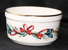 """New with Tag LENOX Ivory China American Home WINTER GREETINGS 4 3/4""""d Dip Bowl"""