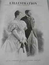 Gravure 1896 Le Duc D'Orléans et l'archiduchesse Dorothée