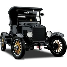 A Ford Sport Model T 1 Vintage Antique Car Classic Carousel Black Metal Rare 18