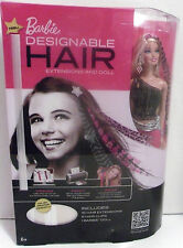 BARBIE DOLL AND 16 DESIGNABLE HAIR EXTENSIONS