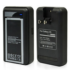 US AC Battery Dock Travel Wall Charger w USB For Samsung Galaxy S5 i9600 SM-G900