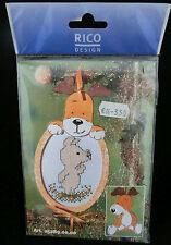 Bu Bu und seine Freunde: Holzrahmen Hund und Anhänger Hund,Rico Design 5289