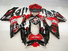 Red Lucky Strike ABS Injection Bodywork Fairing for SUZUKI GSXR600/750 2008-2010