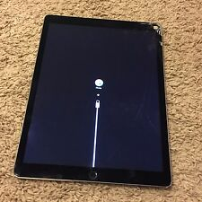 As-Is Gray Apple iPad Pro 12.9 inch 32GB - Cracked + iTunes Restore Error (4013)
