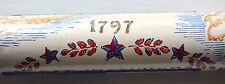 1776 Early American Wallpaper Revolutionary War Bicentennial THOMAS STRAHAN Vtg