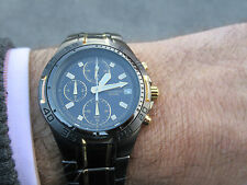 PULSAR BY SEIKO CHRONOGRAPH PVD TWO TONE PILOT DIVERS 2010 LOVELY DESIGN GC