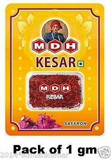 100% Pure Indian Kashmiri MDH Brand Saffron Kesar 1gm to use in food and Beauty