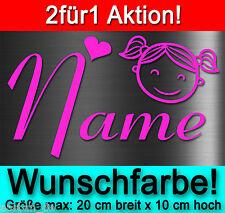 1=2! 1X GRATIS AUTO AUFKLEBER STICKER MÄDCHEN GIRL NAMEN KIND BABY HECKSCHEIBE