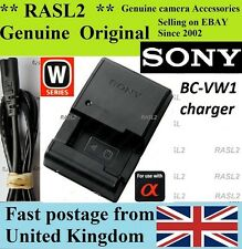 Genuine Original SONY Charger BC-VW1 NP-FW50 Alpha SLT-A55 A35 A33 A37  NEX-6