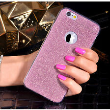 Glitter Bling ShockProof Silicone Soft Case Cover For Apple iPhone 5 6 6s Plus