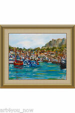 MORRO BAY MARINA California Art oil canvas 16x20 by Galina Zaytseva Free Shippin