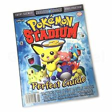 N64 Nintendo 64 Pokemon Stadium 2 Libro Guía Perfecto & Poster By frente a Books