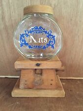 Vintage Knock on Wood Nuts Gumball Machine Wooden Base  Nut Dispenser , CA