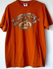 Harley Davidson T Shirt Medium Orange Looney Tunes Warner Brothers Made USA