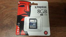 Genuino Original Kingston 8GB SD SDHC Clase 4 Tarjeta de memoria Cámara De SD4/8GB