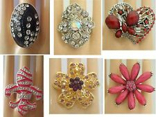 A-30  WHOLESALE LOT 12 PCS CHIC COCKTAIL COSTUME JEWELRY RINGS