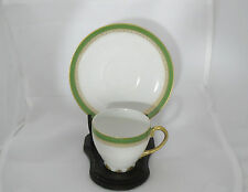 Demitasse Cup & Saucer - Limoges - GDA - Green and Gold - Circa 1937-41