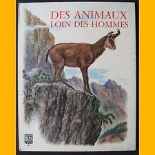 Mouflon gazelle loup élan bison rhinocéros DES ANIMAUX LOIN DES HOMMES 1973