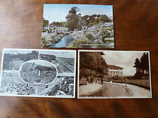 Lot17m 3x POSTCARDS of BOURNEMOUTH Pine Walk, Square, Bourne Stream, Zig Zag