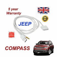 JEEP KOMPASS MULTIMEDIA ADAPTER iPhone 3GS 4 4S iPod USB & 3.5mm Aux Kabel Weiß