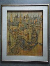 Sumphow Dheppratum Bankok Festival, The Royal Barge Procession. Vintage Painting