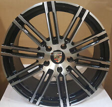 22 Wheels Gloss Black Mch Rims Fit Porsche Cayenne GTS Style Turbo Touareg