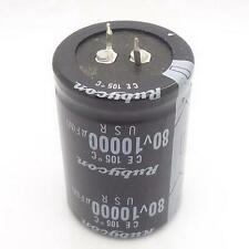 1PC AUDIO Electrolytic Capacitor PANASONIC 105 drgee 35*50mm 10000UF 80V R