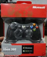 Xbox 360 Wired Controller  Black  Remote For PC & XBOX 360 ★Warranty★ RC