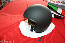 Casco  Suomy Jet 70'S Plain Black Matt con Visiera integrata Taglia XL  KS7000XS
