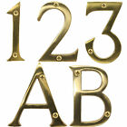 """SOLID BRASS DOOR NUMBERS WITH SCREWS 3""""/75mm Large Hotel/B&B/Stay/Room/Classic"""