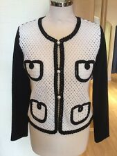 Latte Jacket Size 10 BNWT Black Cream RRP £134 Now £53