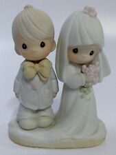 Precious Moments Retired The Lord Bless You And Keep You Wedding Cake Topper