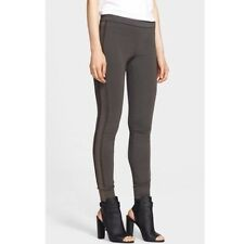 VINCE Leather Piped Legging Stretch Skinny Pants Charcoal L NWT STY# V217020850