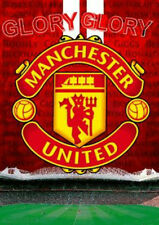 MANCHESTER UNITED 3D POSTER CREST RED LARGE 48cm x 67cm STADIUM OLD TRAFFORD