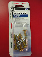 MTD Genuine OEM-738-04124 Pack of 4 Shear Pins for 300/500/600 series 2 stage