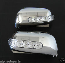 CHROME MIRROR COVER LED FOR FORD RANGER PJ PK MAZDA BT-50 2006 2007 2008 2009 11