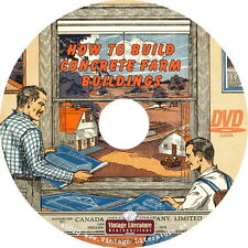 How To Build Concrete Farm Buildings, Sheds and Barns ~ Plans on DVD