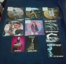 "GOLDFRAPP LOT 5 7"" PICTURE DISC + 3 PROMO CD + 2 OFFICIAL PROMO CARD SILVER EYE"