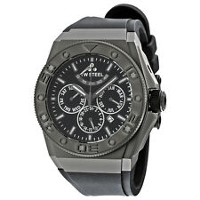 TW Steel CEO Black Dial Black Rubber Mens Watch CE5000