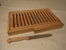 Avon Crumb-Less Bread Board Set With Knife In Original Box - New Open Box