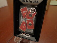 ACES FOUR OF A KIND WELL SUITED ZIPPO LIGHTER MINT IN BOX