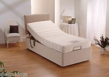 3FT SINGLE ELECTRIC ADJUSTABLE BED WITH MEMORY FOAM MATTRESS & HEADBOARD