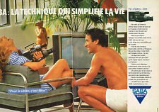 PUBLICITE ADVERTISING 054  1985   SABA   tv vidéo hi-fi  ( 2 pages)