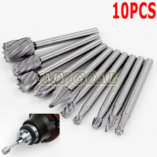 10PCS 3mm Tungsten Head Carbide Burrs Wood Rotary Drill Die Grinder Carving Bit