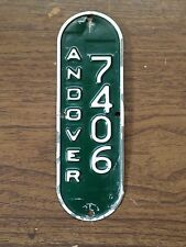 ANDOVER MASSACHUSETTS VINTAGE BICYCLE MA LICENSE PLATE BALLOON BIKE TAG # 7406