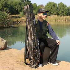 New Design Two Layer Long Fishing Tackle Rod Lures Bags Waterproof Shoulder Bags