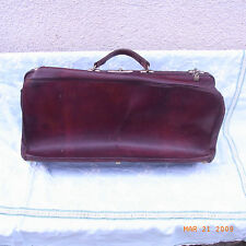 ANCIENNE VALISE CUIR SAC VOYAGE BAGAGE DEB XX / OLD LEATHER SUITCASE