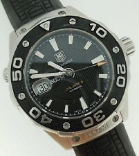 Tag Heuer Aquaracer Automatic Black Dial Men's Calibre 5 Steel Rubber WAJ2110