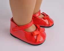 COOL Handmade fashion new white shoes for 18inch American girl doll party b412